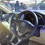 Toyota Yaris dashboard side view at Auto Expo 2018