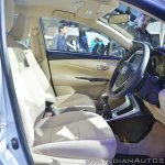 Toyota Yaris front seats at Auto Expo 2018