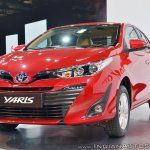 Toyota Yaris front three quarters left side at Auto Expo 2018