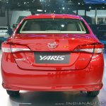 Toyota Yaris rear at Auto Expo 2018