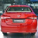 Toyota Yaris rear at Auto Expo 2018