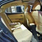Toyota Yaris rear seat at Auto Expo 2018