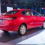 Toyota Yaris rear three quarters