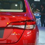 Toyota Yaris tail lamp at Auto Expo 2018