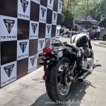 Triumph Bonneville Speedmaster India launch rear right quarter