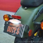 UM Renegade Duty S tail light at 2018 Auto Expo