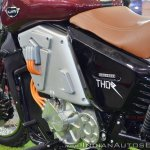 UM Renegade Thor left side battery panel at 2018 Auto Expo