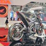 Yamaha Hyper Slaz Concept rear right quarter at 2018 Auto Expo
