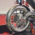 Yamaha Hyper Slaz Concept rear wheel at 2018 Auto Expo