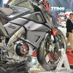 Yamaha Hyper Slaz Concept right side bodywork at 2018 Auto Expo