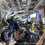Yamaha MT-09 Tracer front left quarter at 2018 Auto Expo