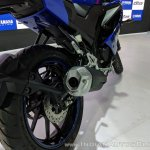 Yamaha YZF-R15 V 3.0 exhaust at 2018 Auto Expo