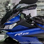 Yamaha YZF-R15 V 3.0 fairing logo at 2018 Auto Expo