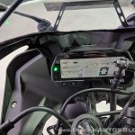 Yamaha YZF-R15 V 3.0 instrument cluster at 2018 Auto Expo