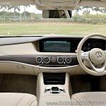 2018 Mercedes-Benz S-Class review test drive dashboard