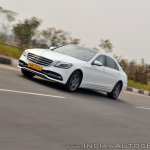 2018 Mercedes-Benz S-Class review test drive front angle action shot