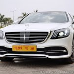 2018 Mercedes-Benz S-Class review test drive front angle view close