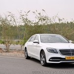 2018 Mercedes-Benz S-Class review test drive front angle view