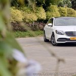 2018 Mercedes-Benz S-Class review test drive front three quarters far