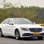 2018 Mercedes-Benz S-Class review test drive front three quarters