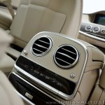2018 Mercedes-Benz S-Class review test drive rear AC vents