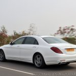 2018 Mercedes-Benz S-Class review test drive rear angle action shot
