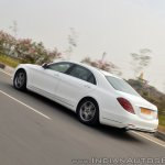2018 Mercedes-Benz S-Class review test drive rear three quarters action