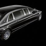 2018 Mercedes-Maybach Pullman (facelift) rear three quarters elevated view