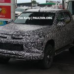 2018 Mitsubishi Triton (facelift) front three quarters left side spy shot