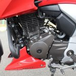 2018 TVS Apache RTR 160 4V First ride review FI engine left side