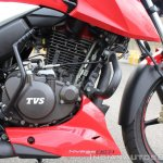 2018 TVS Apache RTR 160 4V First ride review FI engine right side