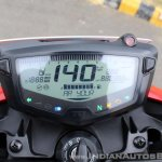 2018 TVS Apache RTR 160 4V First ride review FI instrument cluster display check