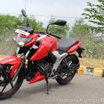 2018 TVS Apache RTR 160 4V First ride review front left quarter