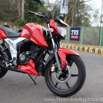 2018 TVS Apache RTR 160 4V First ride review front right quarter