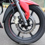 2018 TVS Apache RTR 160 4V First ride review front wheel