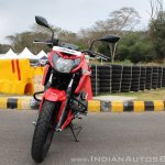 2018 TVS Apache RTR 160 4V First ride review front