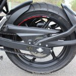 2018 TVS Apache RTR 160 4V First ride review rear wheel