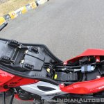 2018 TVS Apache RTR 160 4V First ride review under seat
