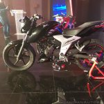 2018 TVS Apache RTR 160 4V India launch Black left side