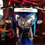 2018 TVS Apache RTR 160 4V India launch Blue headlamp