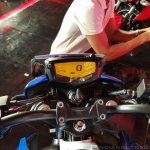 2018 TVS Apache RTR 160 4V India launch Blue instrument cluster