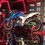 2018 TVS Apache RTR 160 4V India launch Blue left side