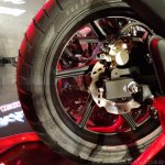 2018 TVS Apache RTR 160 4V India launch Red rear brake
