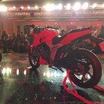 2018 TVS Apache RTR 160 4V India launch Red rear left quarter