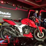 2018 TVS Apache RTR 160 4V India launch Red right side