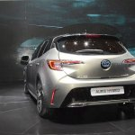 2018 Toyota Auris Hybrid rear at the 2018 Geneva Motor Show