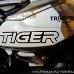 2018 Triumph Tiger 800 XRX India launch fuel tank logo