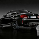 BMW M2 Coupe Edition Black Shadow rear three quarters