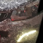 Mahindra U321 MPV spy shot LED DRL