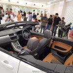 Range Rover Evoque convertible cabin angle view